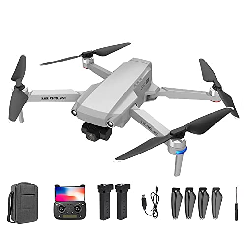 ZYUN Drone GPS con Cámara 6k UHD, Sígueme, Waypoint-Fly, Círculo de Mosca, Flujo Óptico, Modo Sin Cabeza, 2 Baterías para 35 Min y Estuche de Transporte