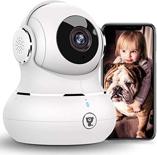 [2021 Neueste] Überwachungskamera Innen, Littlelf WLAN IP Kamera, 1080P WiFi Kamera Babyphone mit Nachtsicht, 2-Wege-Audio, Bewegungserkennung Heimkamera Unterstützt Fernalarm für Haustier/Baby/Ältere