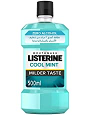LISTERINE Breath Freshening Mouthwash, Cool Mint, Milder Taste, 500ml