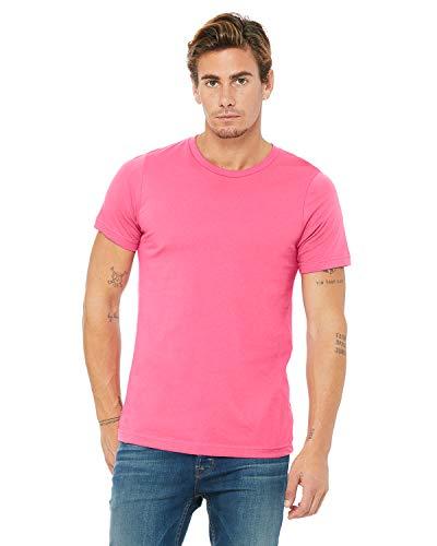 Bella Canvas Men's Jersey Short Sleeve Tee, Charity Pink, Medium