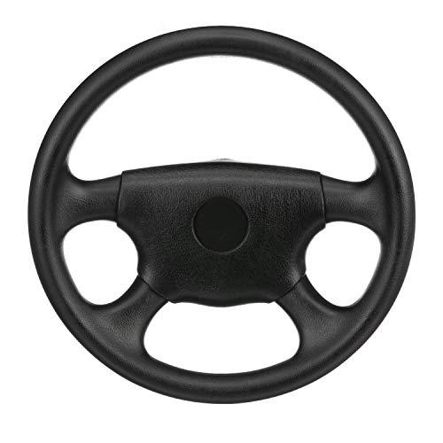 SeaChoice 28510 Universal UV-Resistant 4-Spoke Marine Boat Leather Steering Wheel