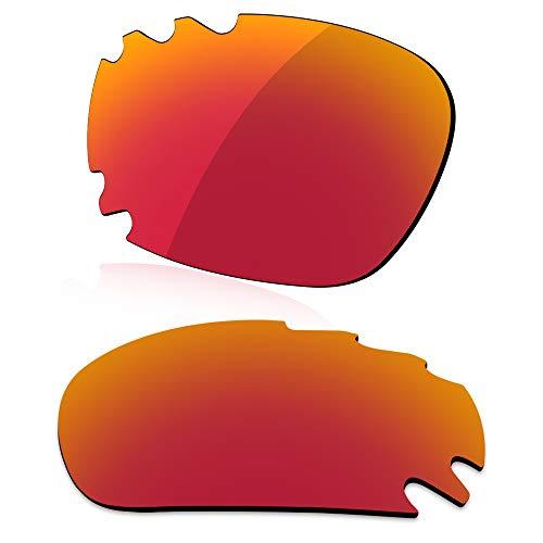 LenzReborn Polarisierte Linse Ersatz für Oakley Jawbone Vented Sonnenbrille – mehr Optionen Gr. Einheitsgröße, Feuerrot – polarisiert, verspiegelt