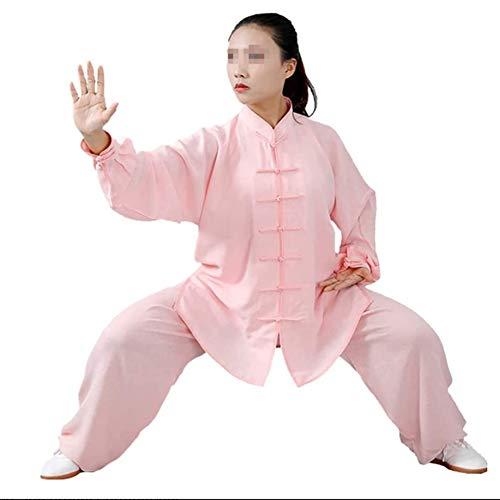 GAO-bo Tai Chi Kung-Fu, Taiji Ropa Tang Juego de los Hombres/Mujeres Wing Chun Tai Chi Fina y Transpirable Camisas y Pantalones (Color : L, Size : Medium)