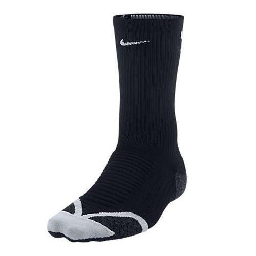 NIKE Socken Elite Running Cushion Crew Calcetines, Unisex Adulto, Negro/Gris (Black/Wolf Grey/Wolf Grey), 46-48