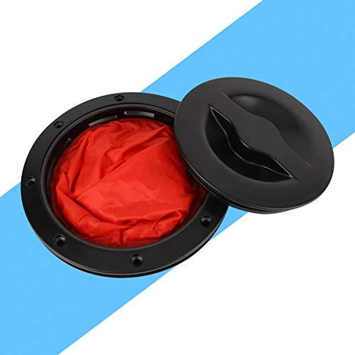 Tiffasha Kit de Placa de Cubierta de 6 Pulgadas - Cubierta de escotilla de Nailon de Polipropileno Placa de Cubierta extraíble Escotilla de Cubierta con Bolsa de Almacenamiento roja y 8 Tornillos