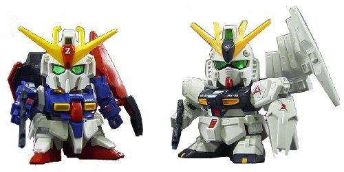 BANDAI Z Gundam & Nu Gundam (HWS Ver.) (SD) (Gundam Model Kits)