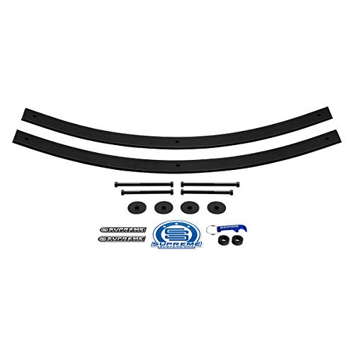 "Supreme Suspensions - Rear Leveling Kit for Dodge RAM 1.5"" - 2"" Rear Suspension Lift High-Strength Steel Add-A-Leaf Kit + Isolator Pads (37.5"" Long AAL)"