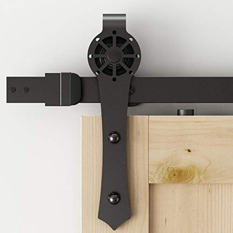 New Decorative Sliding Barn Door Hardware Track Kit Interior Door  (Length  8ft Single kit)