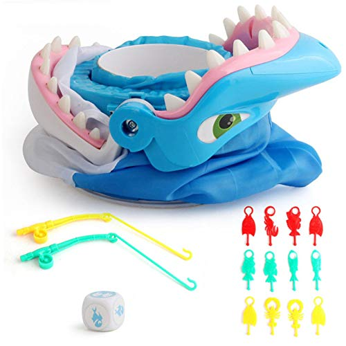 Shark Bite Brettspiel, Kreativ Sharks Tooth Biting Finger Party Desktop Tricky Spiel, Kinder Abenteuer Hai Spielzeug Mit 12 Bunten Meerestier, Haien Fallenfischen Spiel Für Kinder Familienfeier