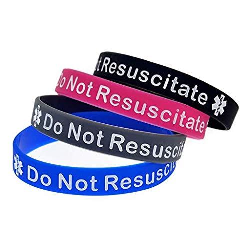 Do Not Resuscitate DRN Bracelet Silicone Wristband Medical Alert (Gift Box Goodies) UK Seller (Pink)