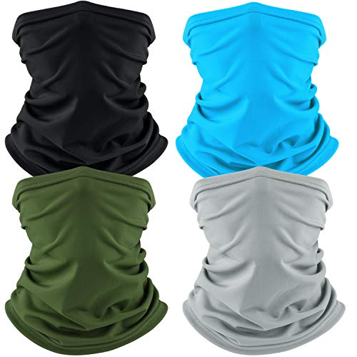 Cooling Neck Gaiter Face Scarf Mask Face Cover Breathable Neck Cover for Cycling Hiking Fishing and Other Outdoor Activities (4...