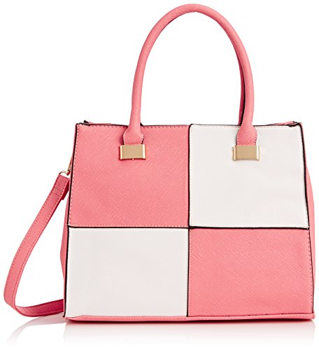 SwankySwans Olivia Reverse-Karo-Tasche für Damen, Pink - Pink (Pink) - Größe: Einheitsgröße