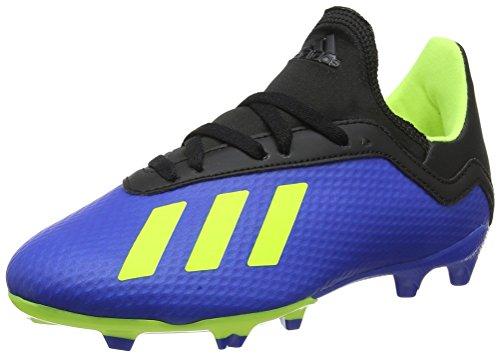 adidas Jungen X 18.3 FG Fußballschuhe, Blau (Football Blue/Solar Yellow/Core Black), 36 2/3 EU