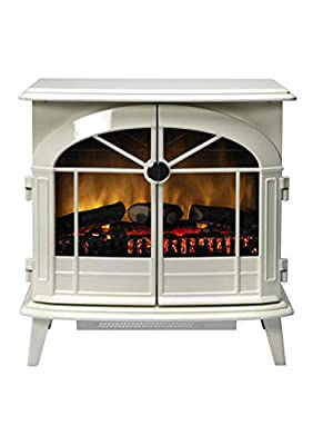 DIMPLEX Chevalier CHV20 White Electric Stove OPTIFLAME