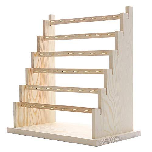 Gesh Soporte de madera maciza para almacenamiento de orejas, para colgar pendientes, collar, pulsera, joyería, soporte de exhibición de accesorios tamaño D