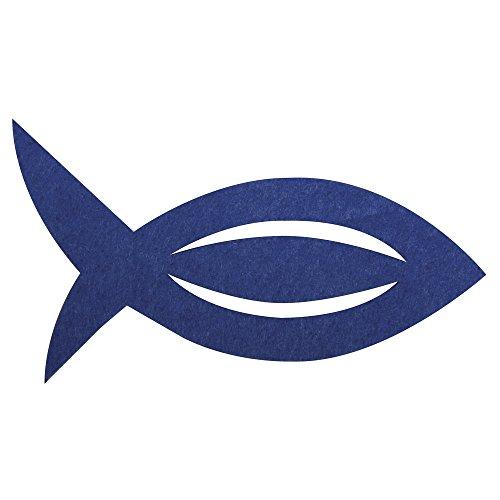 Rayher 53566376 Filz Manschette für Servietten Fisch, 13,5x7,5x0,2cm,
