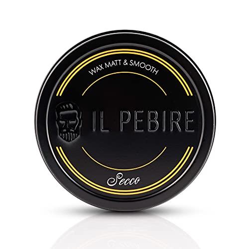 IL PEBIRE - SECCO BLVCK Edition I extra mattes Haarwachs I mittlerer Halt & dry Effekt I Haarwax auf Wasserbasis I speziell für dünnes und mittleres Haar I jederzeit...