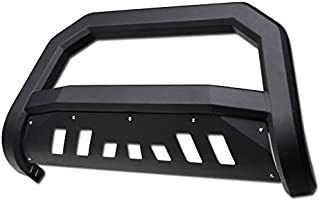 HS Power Matte Black Finished Solid Edge Bold Bull Bar 10-17 for Toyota 4Runner HD Steel Brush Push Front Bumper Grill Grille Guard | Will Not Fit 2014-2017 4Runner Limited Models