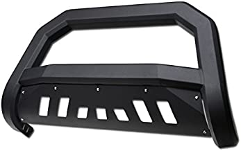 HS Power Matte Black Solid Edge Bold Bull Bar 2004-2017 for Ford F150 Truck | 2003-2014 Lincoln Navigator/Lincoln Mark LT All Models HD Steel Brush Push Front Bumper Grill Guard