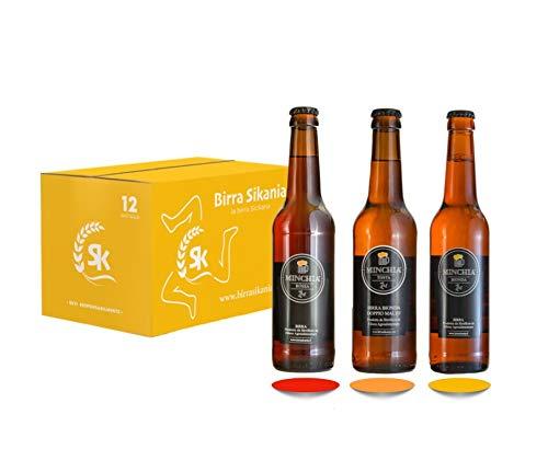 Etnazar - Birra Minchia 33 cl - Kit da 12 bottiglie birra artigianale siciliana