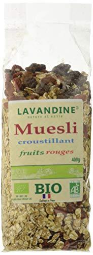 LAVANDINE Muesli Croustillant Fruits Rouges Bio 400 g - Lot de 6