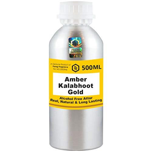 Parag Fragrances Ambre Kalabhoot Gold Attar 500 ml Attar (Sans alcool, Attar de longue durée pour homme - Femmes et usage religieux) Worlds Best Attar | Itra | Huile parfumée | Parfum
