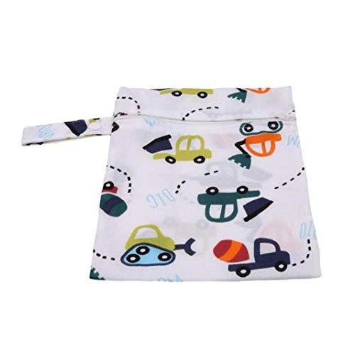 Cochecito bolso colgante de una sola capa bolsa de pañales de almacenamiento de la cremallera bolsas de pañales azul Coches Imprimir duradera colgantes práctica de pañales de bebé Organizador Esencial