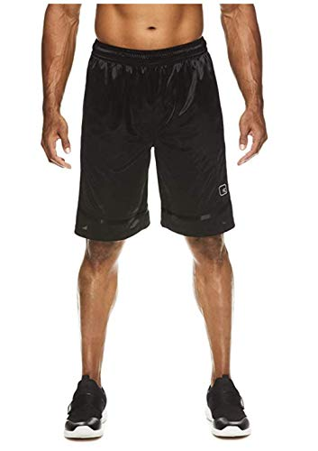 AND1 Men's All Courts Basketball Core Shorts (Large 36/38, Black)