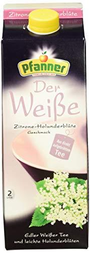 Pfanner Weißer Tee Zitrone-Holunderblüte, 6 x 2 l Packung