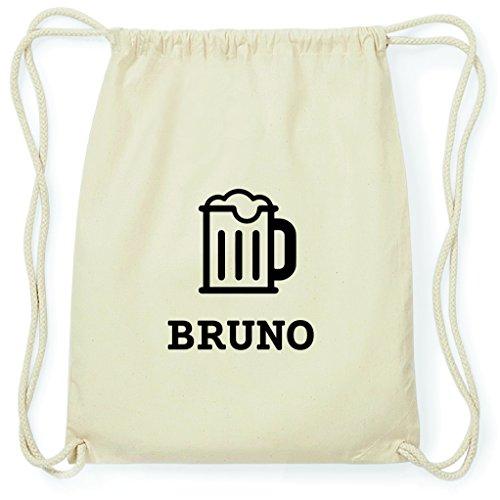 JOllify Turnbeutel - Happy Birthday - für Bruno - Bier Gruß