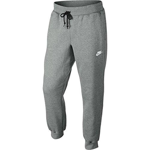 Nike Herren Hose AW77 Cuffed Fleece, Grau (Dark Grey Heather/White), XL, 598871-063
