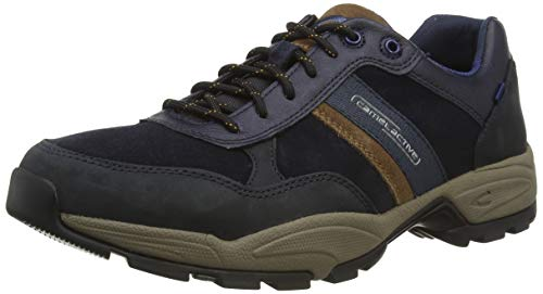 camel active Evolution, Herren Low-Top Sneaker, Blau (midnight/timber 02), 43 EU (9 UK)