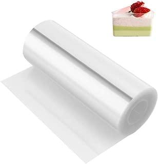 Acetate Sheets,Cake Collar,Kasmoire Acetate Roll(4 Inch 32.8 Feet 125micron) Transparent Chocolate Mousse Collar Baking Surrounding Edge Cake