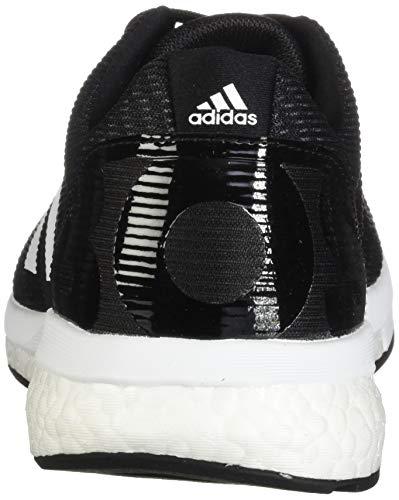 adidas Men's Adizero Boston 8 Running Shoe, Black/White/Grey, 12 M US 2
