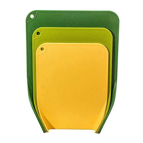 Nobranded 3 Piezas de Tablas de Corte de plástico Flexible Grueso para alfombras de Corte de Cocina para Picnic Camping