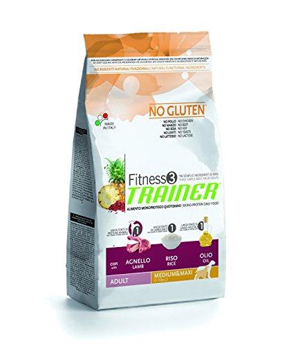 Trainer NovaFoods Cibo per Cani Fitness 3 Adult Medium Maxi Lamb&Rice 12,5KG - 12500 gr