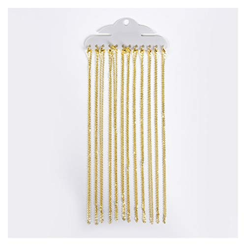 Las Cadenas del Collar 12pcs / Lot 40cm con Langosta Broches For Los Resultados De La Joyería De DIY Que Hace (Color : Gold)