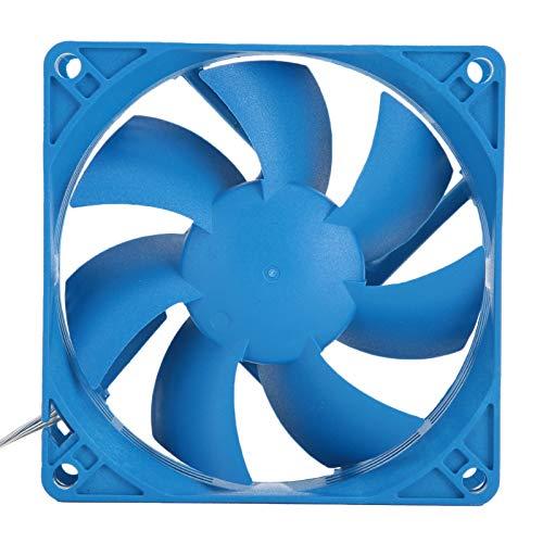T opiky Ventilador Enfriador de PC de 8 cm, 12V / 0.12A 1800RPM 25.8CFM Ventilador Enfriador de computadora Caja de computadora 19 dBA Disipador de Calor de enfriamiento silencioso Accesorio