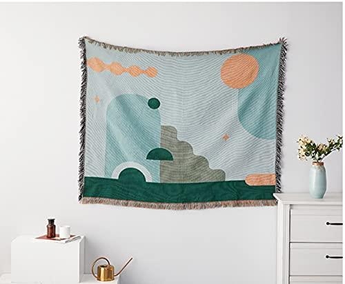 Manta de sofá geométrica, Tapiz de Alfombra Simple, Toalla de sofá, Manta Tejida, Colcha, Textiles para el hogar, decoración del hogar, 5,90x150 cm