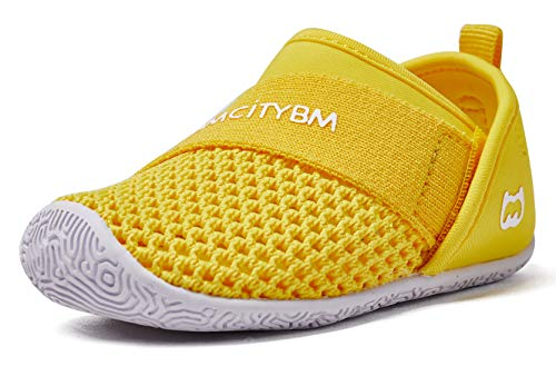 Baby Sneakers Girls Boys Mesh First Walkers Shoes 6 9 12 18 24 Months Yellow Size 12-18 Months Infant