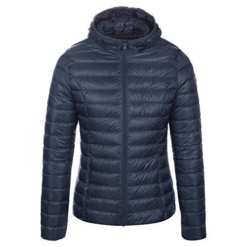 JOTT Damen Daunenjacke Übergangsjacke Cloe Jeans Blau mit Kapuze Gesteppt Leicht (XL)