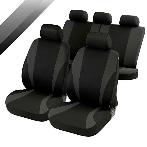 rmg-distribuzione Coprisedili compatibili per Yaris Versione (1999-2006 (P1)) compatibili con sedili con airbag, bracciolo Laterale, sedili Posteriori sdoppiabili R01S0891