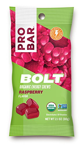 Bolt Organic Energy Chews, Raspberry, 2.1 oz (Pack of 12) Now $11.15 (Was $23.88)