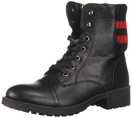 Steve Madden Vigorous 970 Botas para Mujer, Color Black/Red, 26 Mexico