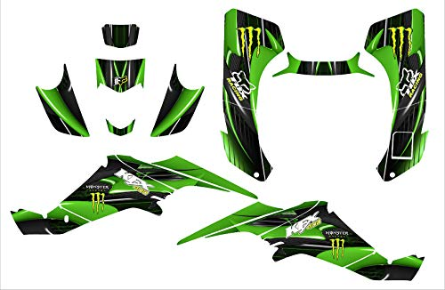 Kawasaki KFX 400 graphics decal kit design #3333 (Green)