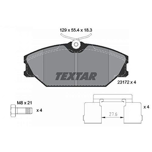 Scheibenbremse Textar 2317203 Bremsbelagsatz