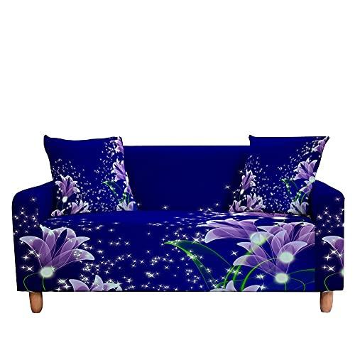 WXQY Funda de sofá de Mariposa Funda de sofá elástica Sala de Estar sillón a Prueba de Polvo Antideslizante Funda de sofá Todo Incluido A3 3 plazas