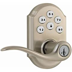Keyless entry convenience with a one-touch locking motorized deadbolt and easy install with just a screwdriver 8 customizable access codes for increased security and a 30 second auto-locking option For use on exterior doors where keyed entry and secu...