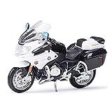 El Maquetas Coche Motocross Fantastico 1︰18 para R1200RT Police Diecast Modelo Aleación Juguete Moto Negra Colección Desmontable Juguetes para Niños Educación Expresión De Amor (Color : 1)
