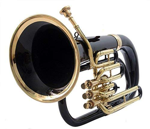 Makan Euphonium & Tubas Black Color 3 Valve Bb Pitch Wind Musical Instrument With Case